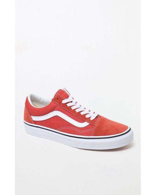 64c88a1e3bfc Lyst - Vans Women s Burnt Orange Old Skool Sneakers in Orange - Save 35%