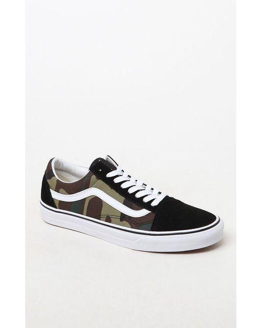 02c6f92fc5 Lyst - Vans Woodland Camo Old Skool Shoes in Black for Men - Save 18%