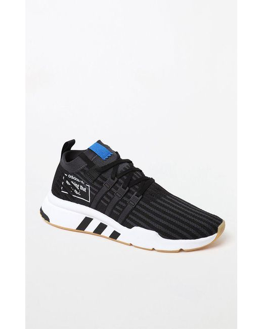 buy popular 2a47a bb185 Adidas - Black Eqt Support Mid Adv Primeknit Bp Shoes for Men - Lyst ...