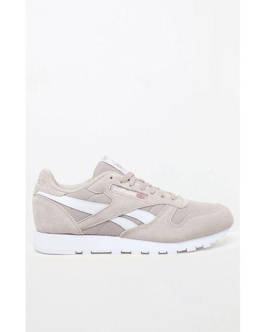... Reebok - White Classic Leather Estl Parchment Shoes for Men - Lyst ... 499531850