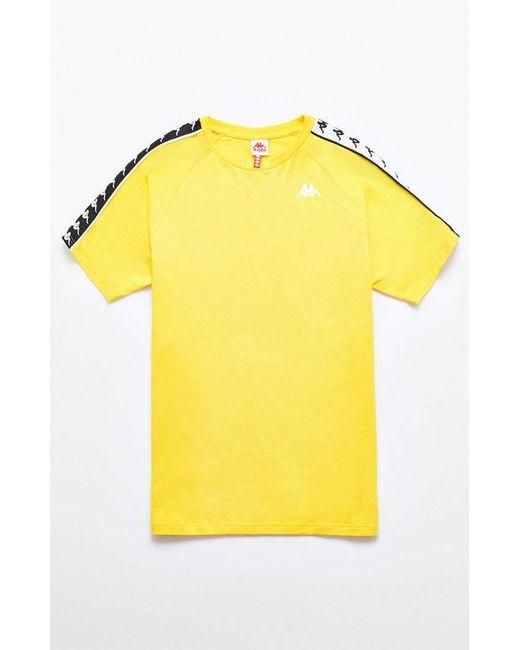 56606ad9d40 Kappa - Yellow Banda Cohen Slim T-shirt for Men - Lyst ...