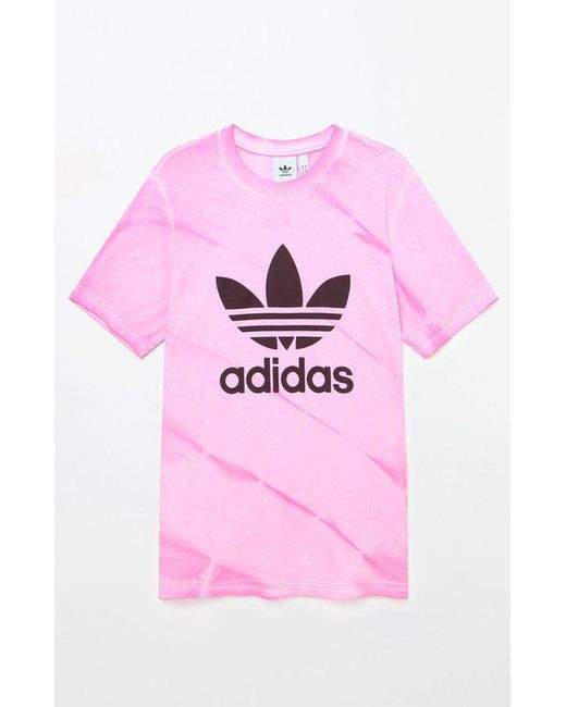 Lyst - Adidas Tie-dye Pink T-shirt in Pink for Men 90e672a22138
