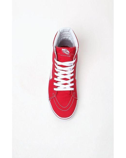 34b3518db2b ... Vans - Canvas Sk8-hi Red Shoes for Men - Lyst ...