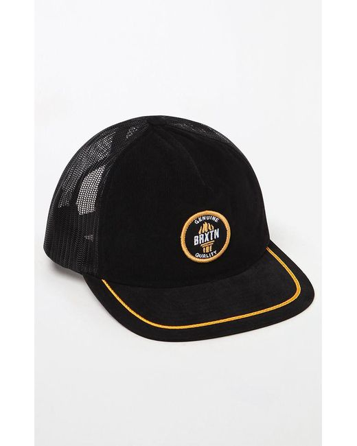 Lyst - Brixton Torch Snapback Trucker Hat in Black for Men 05083f9b2c87