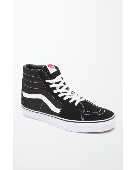 5064aeff3a Lyst - Vans Sk8-hi Canvas Black   White Shoes in Black for Men