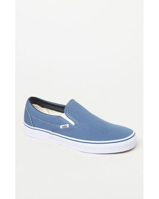 00c563ee77 Lyst - Vans Classic Blue Slip-on Shoes in Blue for Men