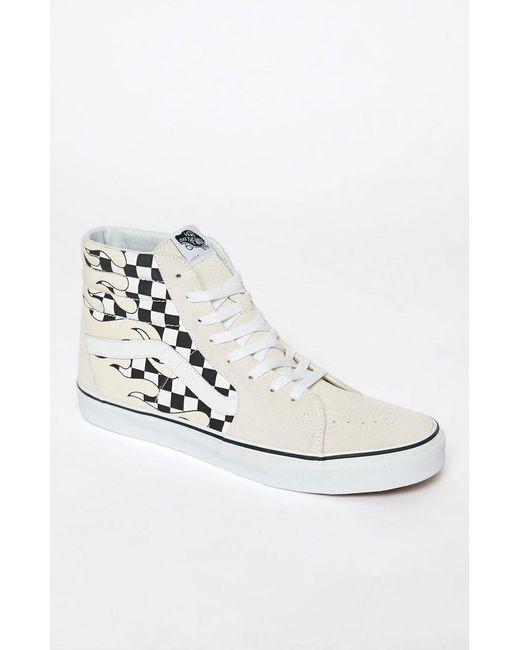 d33fa5ad855f40 Vans - White Checker Flame Sk8-hi Shoes for Men - Lyst ...