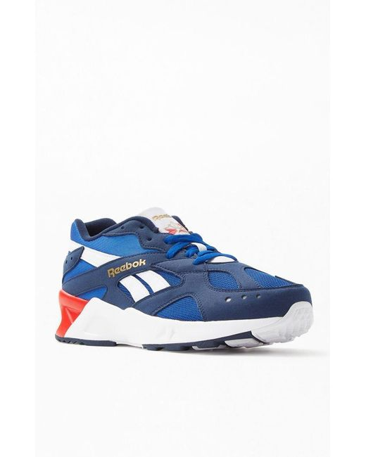 Reebok - Blue Navy Aztrek Shoes for Men - Lyst ... 4527f82e3