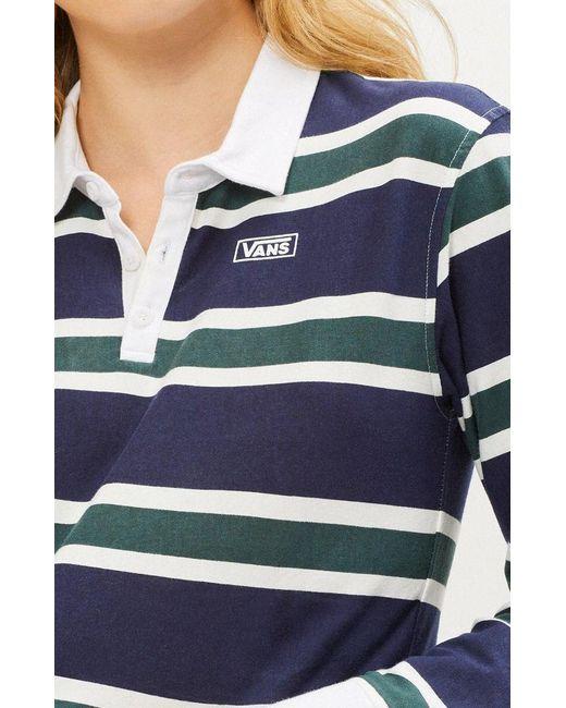 63d8df99b9 ... Vans - Blue Rugby Cropped T-shirt - Lyst ...