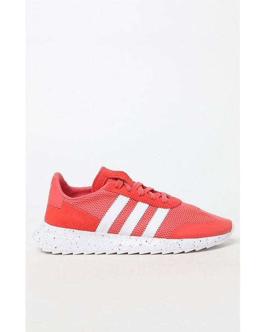 hot sale online 2ef33 28d17 ... Adidas - Red Womens Flashback Runner Sneakers ...