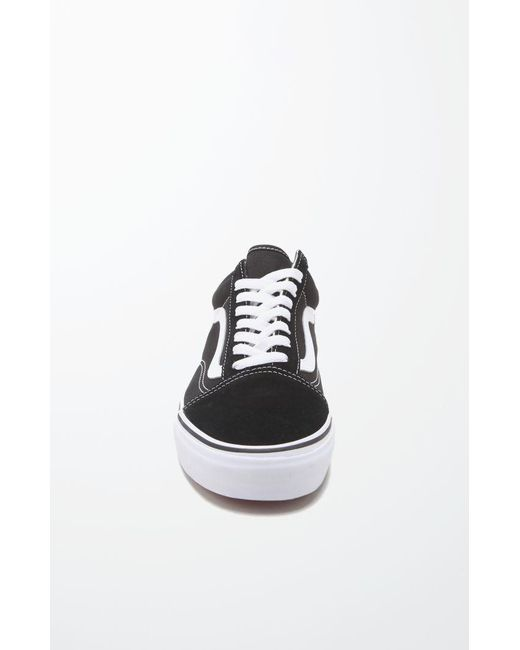 5f17061714 Lyst - Vans Canvas Old Skool Black   White Shoes in Black for Men