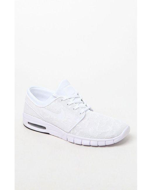 8e37b16ff18f Lyst - Nike Sb Stefan Janoski Max Shoes in White for Men - Save 4%