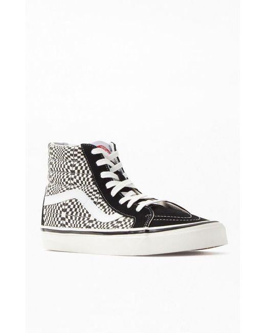 cbd506fe789e Lyst - Vans Black   White Anaheim Factory Sk8-hi 38 Dx Shoes in ...