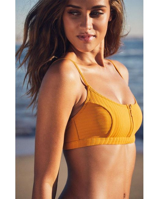 bfdf92ea5b2a9 ... Roxy - Multicolor Color My Life Athletic Bikini Top - Lyst ...