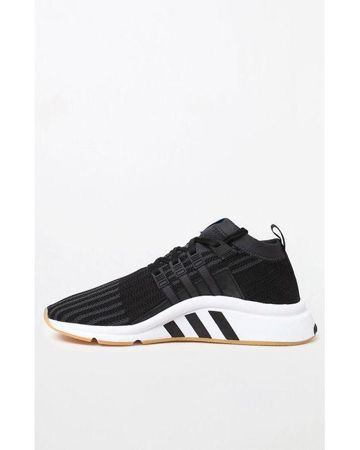 best authentic d0a1e 2f7d9 ... Adidas - Black Eqt Support Mid Adv Primeknit Bp Shoes for Men - Lyst ...
