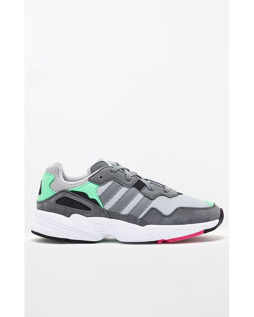 new style 75455 c64e1 ... Lyst Adidas - Gray   Green Yung-96 Shoes for Men ...