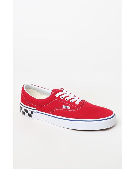 c6a2c16464 Lyst - Vans Red Check Block Era Shoes in Red for Men