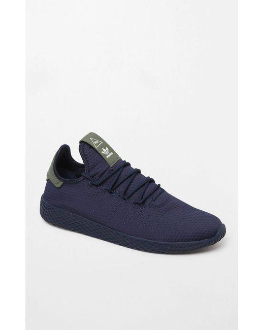 0e9b722d1 Lyst - adidas X Pharrell Williams Navy Tennis Hu Shoes in Blue for Men