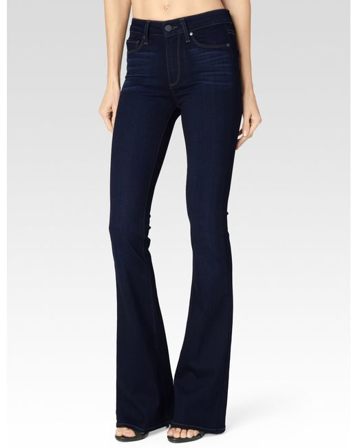 PAIGE   Blue High Rise Bell Canyon   Lyst