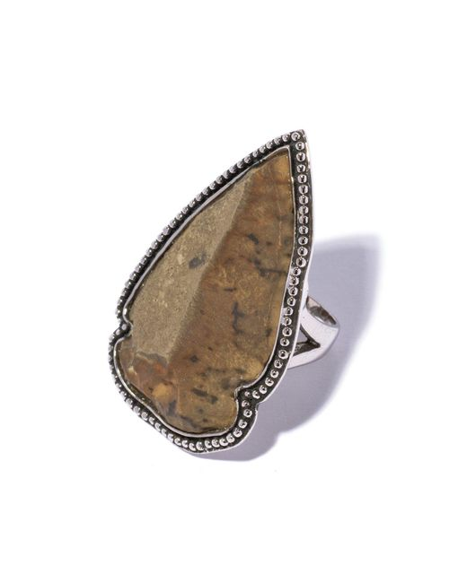 Pamela Love | Brown Flint Ring - Size 7.5 | Lyst