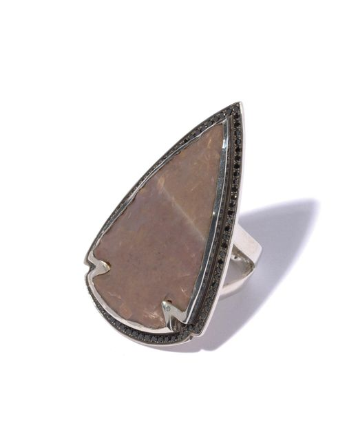 Pamela Love | Brown Jasper Black Diamond Ring - Size 7 | Lyst