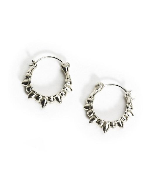 Pamela Love | Metallic Spike Hoop Earrings | Lyst
