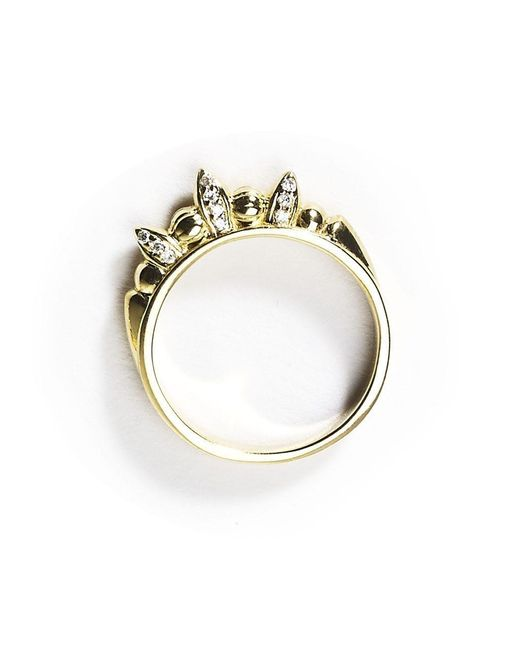 Pamela Love | Metallic Pave Thin Spike Ring | Lyst