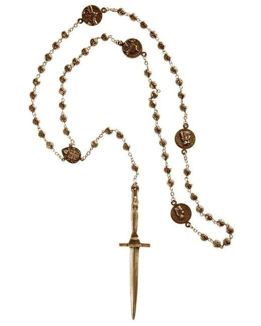 Pamela Love   Metallic Dagger Rosary   Lyst