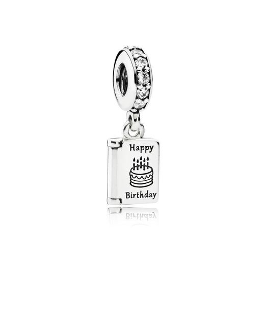 Pandora - Metallic Birthday Wishes Pendant Charm - Lyst