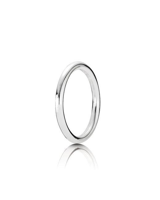 Pandora   Metallic Plain Stacking Ring   Lyst