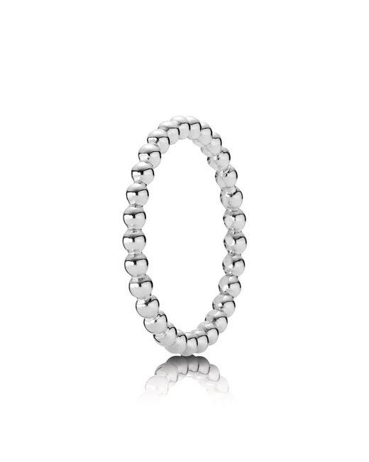 Pandora - Metallic Bubble Stacking Ring - Lyst