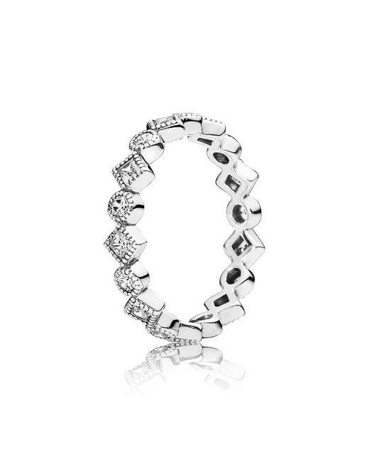 Pandora - Metallic Alluring Brilliant Princess Ring - Lyst