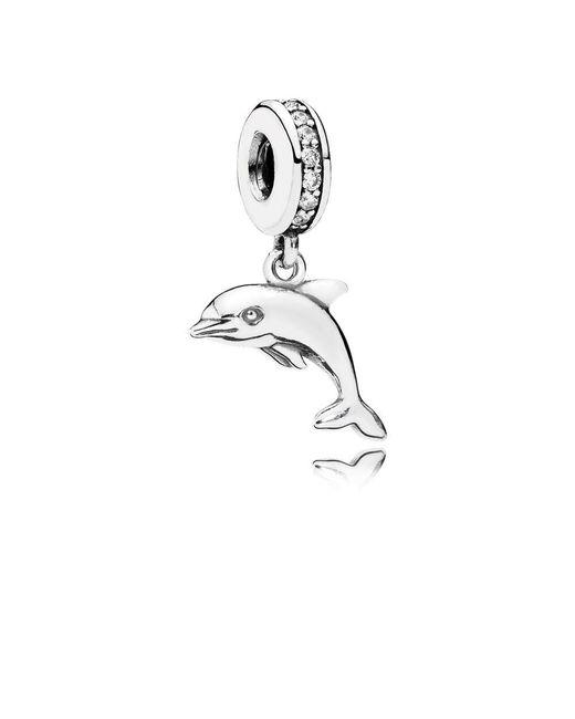 Pandora | Metallic Playful Dolphin Pendant Charm | Lyst