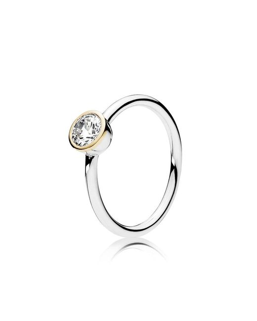 Pandora - Metallic Petite Circle Ring - Lyst