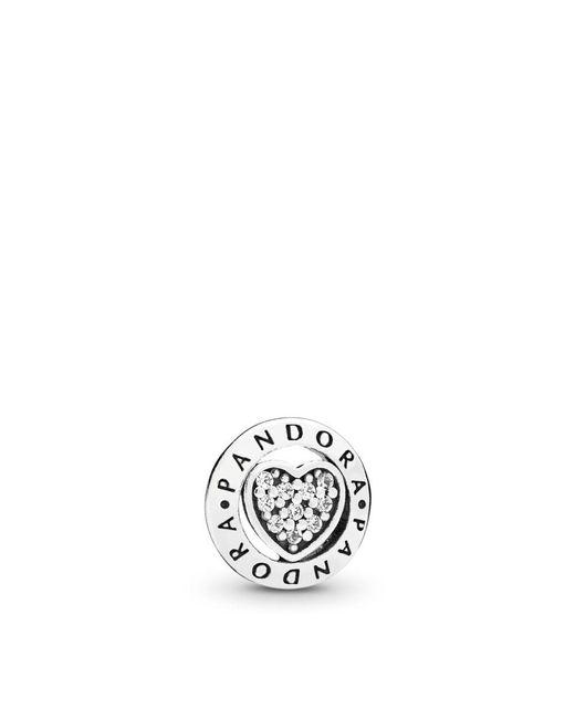 Pandora - Multicolor Signature Heart Petite Locket Charm - Lyst