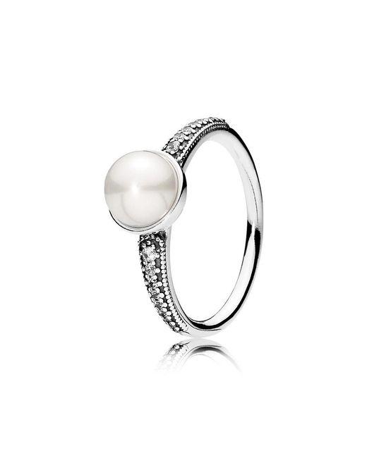 Pandora - Metallic Elegant Beauty Ring - Lyst