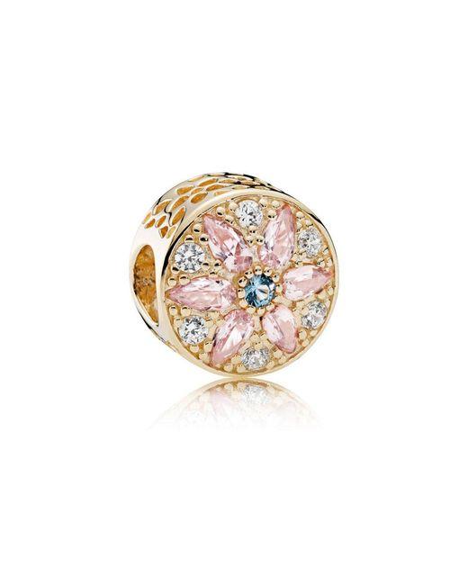 Pandora - Metallic Opulent Floral Charm - Lyst