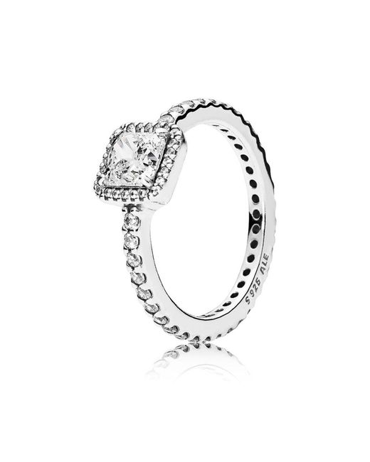 Pandora - Metallic Timeless Elegance Ring - Lyst