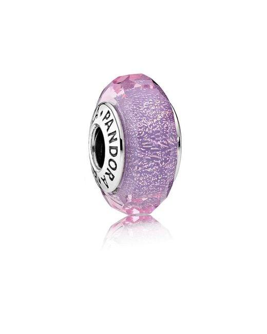 Pandora - Purple Shimmer Murano Charm - Lyst