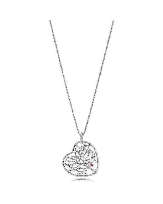 Pandora - Metallic Tree Of Love Necklace - Lyst