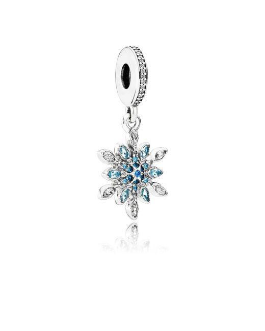 Pandora - Multicolor Crystallised Snowflake Pendant Charm - Lyst