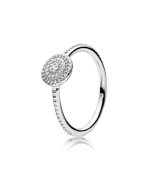 Pandora - Metallic Radiant Elegance Ring - Lyst