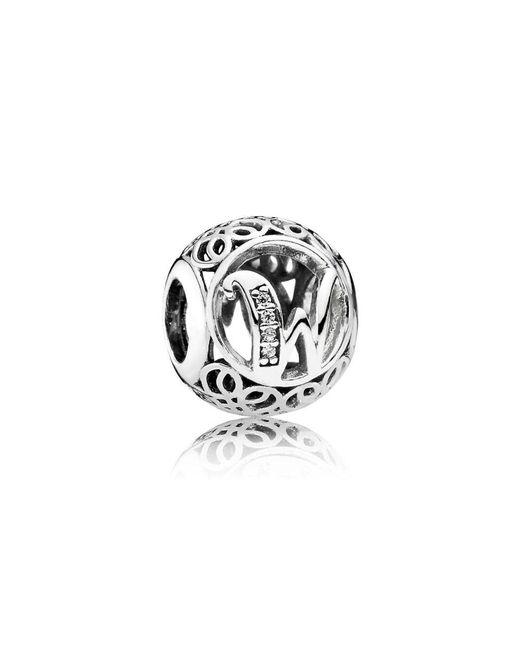 Pandora   Metallic Vintage W Charm   Lyst