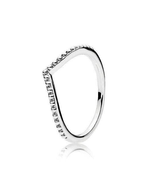 Pandora   Metallic Beaded Wish Ring   Lyst