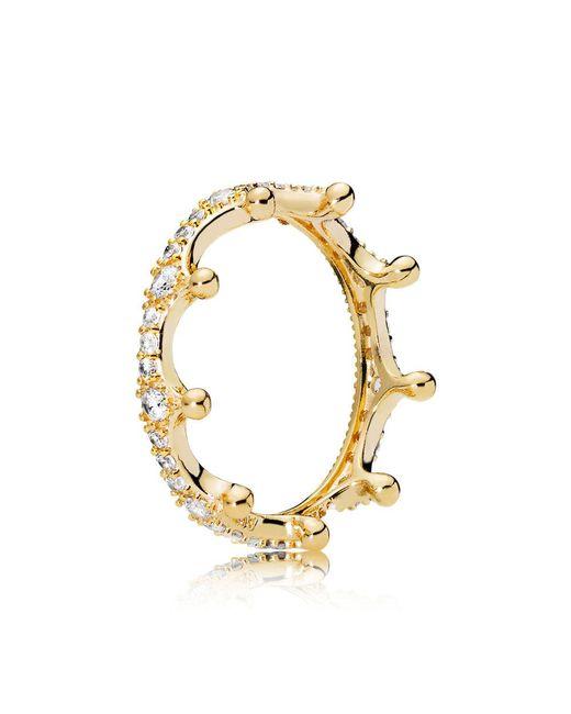 Pandora - Metallic Enchanted Crown Ring - Lyst