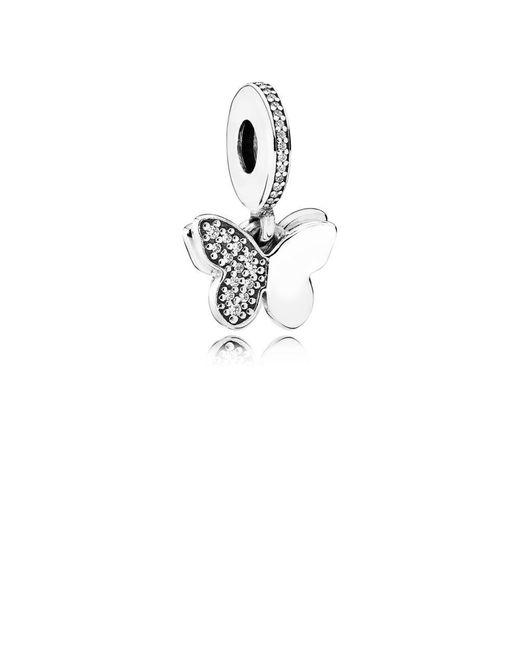 Pandora   Metallic Fluttering Butterflies Pendant Charm   Lyst