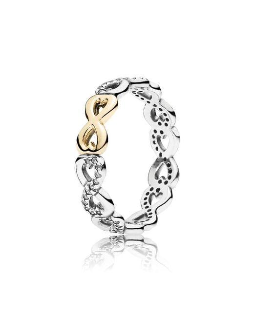 Pandora - Metallic Infinite Love Ring - Lyst