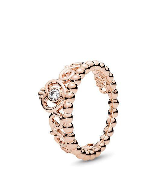 Pandora - Metallic My Princess Tiara Ring - Lyst