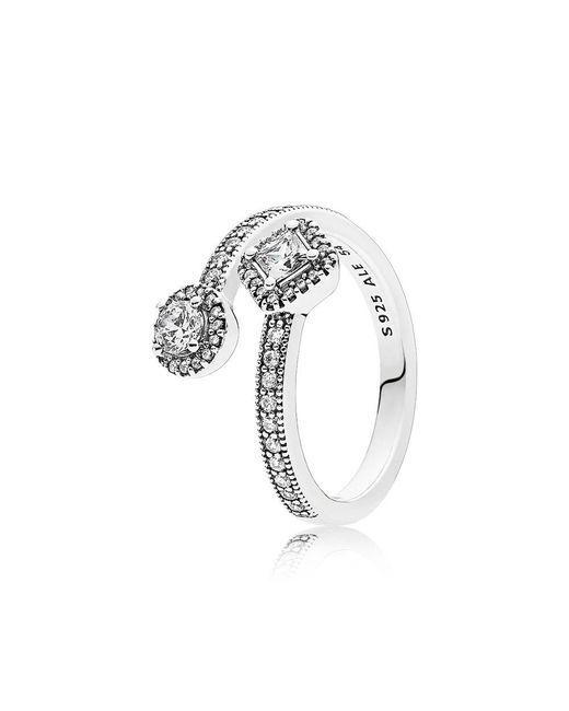 Pandora - Metallic Abstract Elegance Ring - Lyst