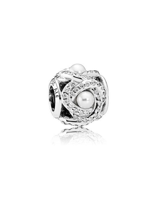 Pandora - Metallic Luminous Love Knot Charm - Lyst